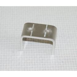 Manchon invisible aluminium pour lisse de 50 x 30 mm