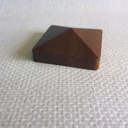 Bouchon chêne doré pour lisse PVC 80 x 80 mm
