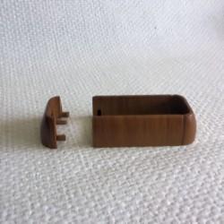 Fixe lisse PVC chêne doré pour lisse de 80x28