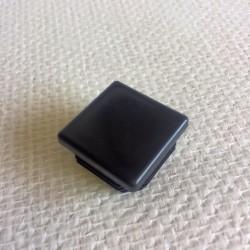 Bouchon noir en PVC pour tube de 40x40
